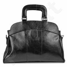 DAN-A T25 juoda rankinė iš natūralios odos , moteriška