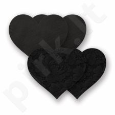 Nippies - Basic Black Heart - Širdelės, lipdukai krūtims