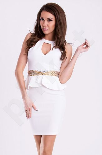 Emamoda suknelė - balta 12015-3