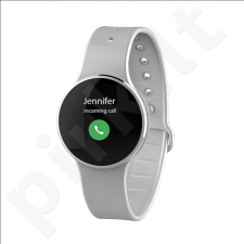 MyKronoz Zecircle 2 Smartwatch, White, Touchscreen, 70 mAh, Touchscreen, Bluetooth, Waterproof
