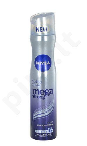Nivea Mega Strong Styling purškiklis, kosmetika moterims, 250ml