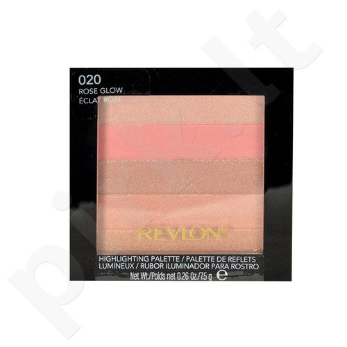 Revlon veido švytėjimo paletė, kosmetika moterims, 7,5g, (020 Rose Glow)
