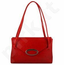 DAN-A T77 raudona rankinė iš natūralios odos , moteriška