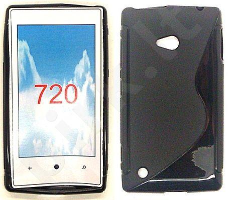 Nokia 720 Lumia dėklas SILICON Telemax juodas