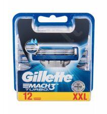 Gillette Mach3 Turbo, keičiamos galvutės vyrams, 12pc