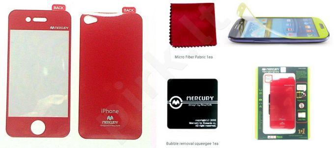 Apple iPhone 4 ekrano plėvelė  COLOR Mercury raudona