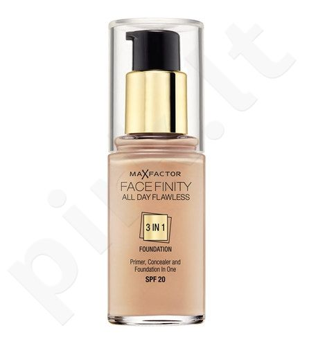 Max Factor Face Finity 3in1 Foundation SPF20, 30ml, kosmetika moterims  - 50 Natural