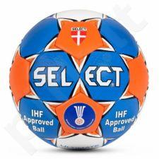 Rankinio kamuolys SELECT Ultimate IHF mėlyna-balta-oranžinė