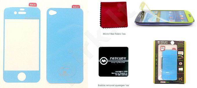 Apple iPhone 4 ekrano plėvelė  COLOR Mercury žydra