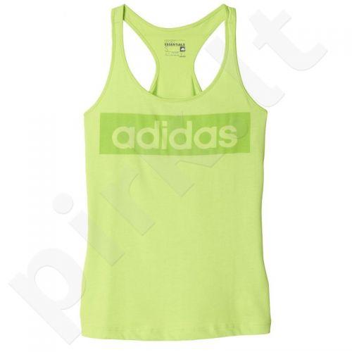 Marškinėliai treniruotėms Adidas Essentials Linear Slim Tank W AJ4569