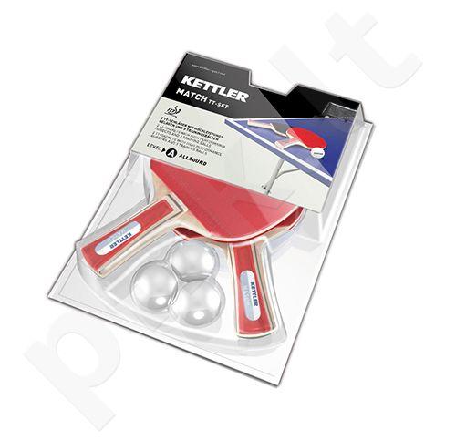 Stalo teniso rinkinys MATCH 1 žv. 2 raketės+3 kamuoliuokai
