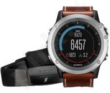 Garmin fēnix 3,Sapphire, Silver with Leather Band, Performer Bundle