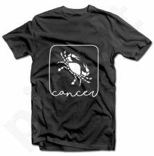 """Marškinėliai su zodiako ženklu """"Vėžys"""""""