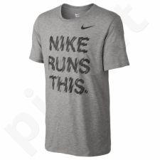 Marškinėliai bėgimui  Nike Run High Is Real M 778345-063