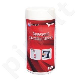 Drėgnos valymo servetėlės Vakoss LCD/TFT ekranams 100vnt.