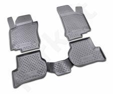 Guminiai kilimėliai 3D VW Golf VI 2009-2012, 4 pcs. /L65024G /gray