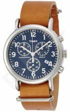 Laikrodis TIMEX  WEEKENDER - STAINLESS STEEL - leather - chronografasgrafas - INDIGLO - - 3 ATM