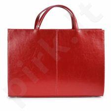 DAN-A T19 raudona rankinė iš natūralios odos , moteriška
