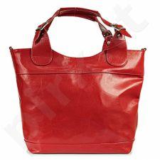 DAN-A T195 raudona rankinė iš natūralios odos