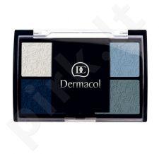 Dermacol Quattro akių šešėliai, kosmetika moterims, 5g, (For Green Eyes)