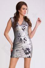 PINK BOOM suknelė - sidabrinė 9603-4