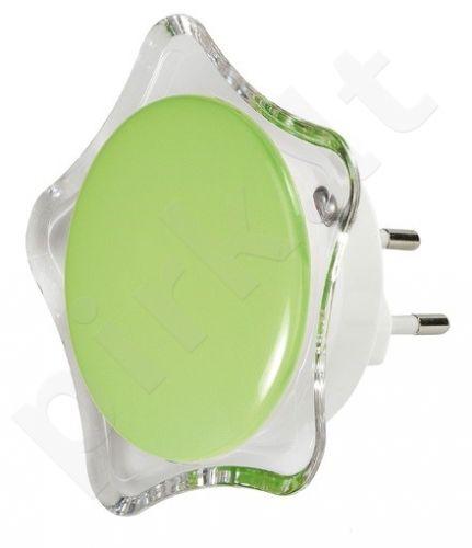 Naktinė lempa žvaigždės formos 1399 60 žalia