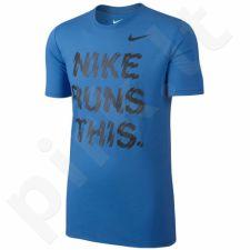 Marškinėliai bėgimui  Nike Run High Is Real M 778345-406