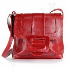 DAN-A T12 raudona rankinė iš natūralios odos , moteriška