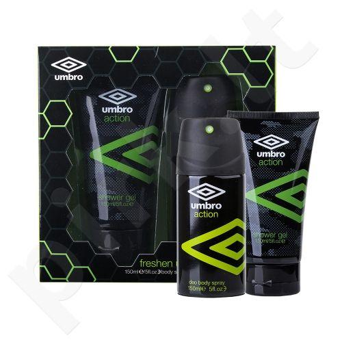 UMBRO Action rinkinys vyrams, (dezodorantas 150 ml + dušo želė 150 ml)