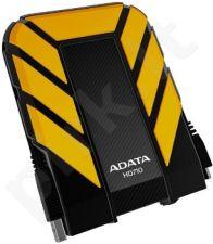 Išorinis diskas Adata DashDrive HD710 1TB USB3 Geltonas, Atsparus vandeniui