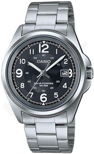 Laikrodis CASIO MTP-S101D-1B SS Case. SOLAR POWERED