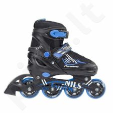 Riedučiai 2in1 Nils Extreme Black/Blue NH7104 r. 34-37