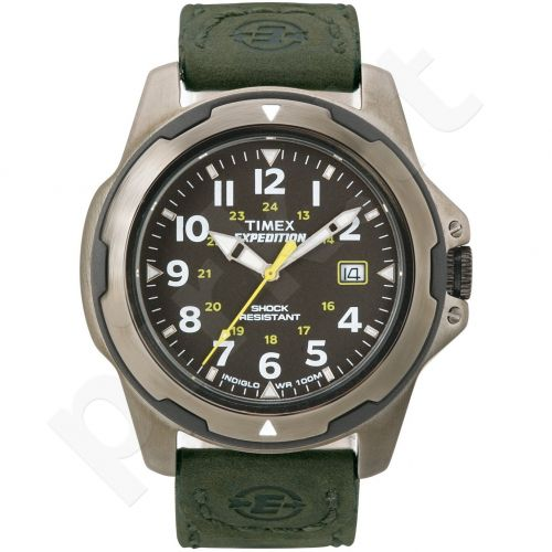 Laikrodis TIMEX  EXPEDITION - STAINLESS STEEL - INDIGLO - kvarcinis - -WR 3 ATM