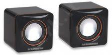 Manhattan 2600 serijos USB garsiakalbių sistema, juodos spalvos