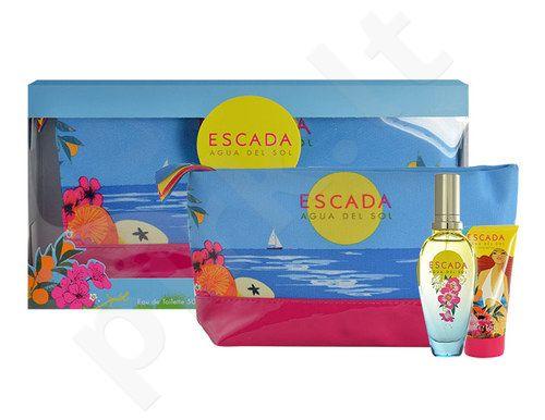 Escada Agua del Sol rinkinys moterims, (EDT 50ml + 50ml kūno losjonas + kosmetikos krepšys)