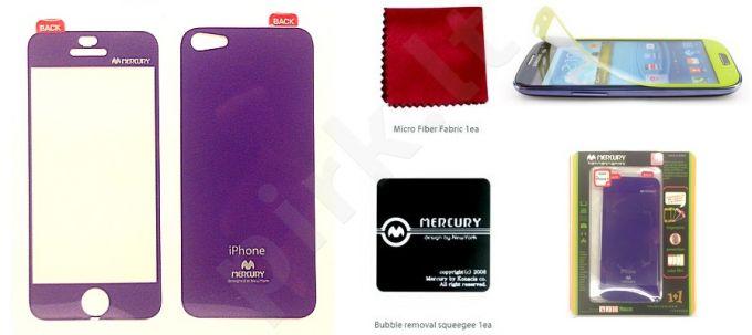 Apple iPhone 5 ekrano plėvelė  COLOR Mercury violetinė