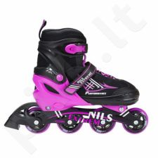 Riedučiai 2in1 Nils Extreme Black/Pink NF7104 r.30-33