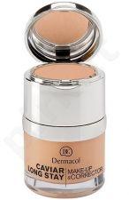 Dermacol Caviar Long Stay Make-Up & Corrector 3, 30ml, maskuojantis makiažo pagrindas
