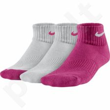 Kojinės Nike Cotton Cushion Quarter 3 poros Junior SX4722-926