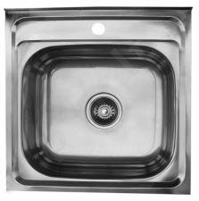 Nerūdijančio plieno plautuvė 5050 uždedama su sifonu