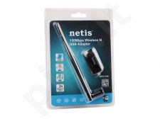 Netis Mini USB WiFi adaptor, 150 Mbps, 1 detachable antenna 5dBi