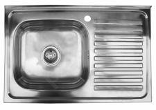 Nerūdijančio plieno plautuvė 8050 dešinė uždedama su sifonu