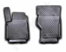 Guminiai kilimėliai 3D VW Amarok 2010->, 1st row,  2 pcs. /L65013