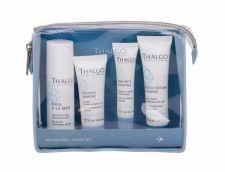 Thalgo Source Marine, rinkinys dieninis kremas moterims, (Moisturizing kremas 20 ml + Facial Serum 15 ml + Micelar Water Eveil a la Mer 50 ml + kūno losjonas Cold kremas Marine 30 ml + kosmetika krepšys)