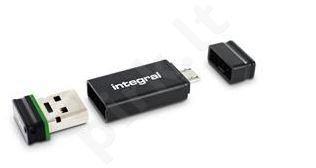 Integral Fusion 16GB USB 2.0 Flash Drive + Adapter retail pack