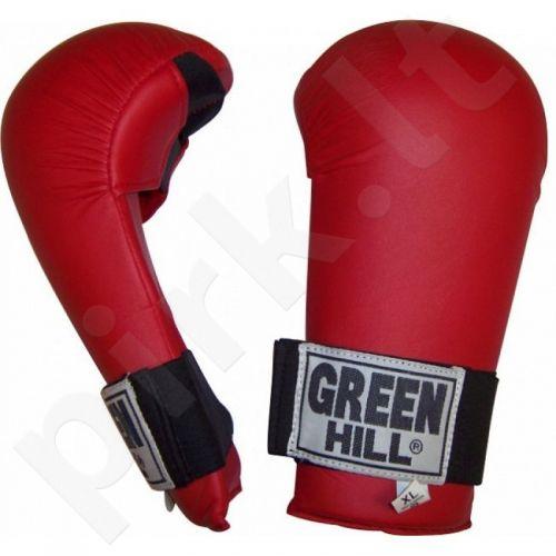 Pirštinės  Green Hill Mitt Fine raudonas