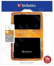 Išorinis diskas Verbatim Store & Go 2.5' 1TB USB3, Juodas