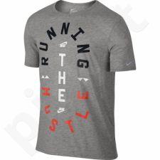 Marškinėliai bėgimui  Nike Run P Hustle Tee M 776634-063