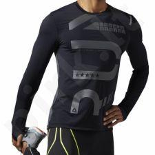 Marškinėliai bėgimui  Reebok One Series Running ACTIVChill M AO0489