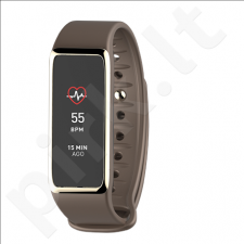 MyKronoz Zefit 3HR Smartwatch, Brown, 100 mAh, Touchscreen, Bluetooth, Heart rate monitor, Waterproof